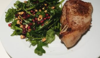 Rocket Salad with Pomegranates and Toasted Hazelnuts